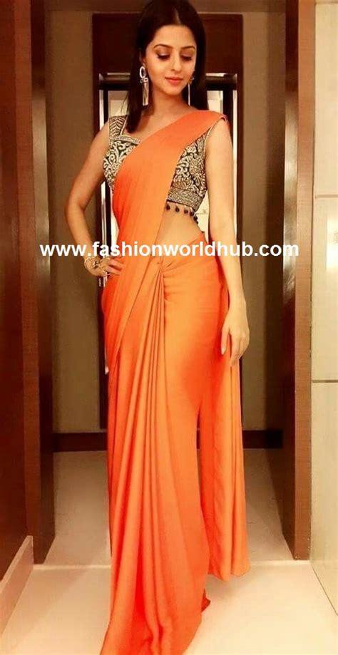 Wijaya Blouse trending plain sarees with designer blouse fashionworldhub