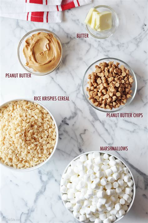 how to make treats peanut butter rice krispie treats the chic site