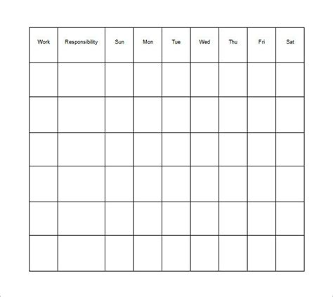 Responsibility Chart Template by Responsibility Chart Template 8 Free Word Excel Pdf