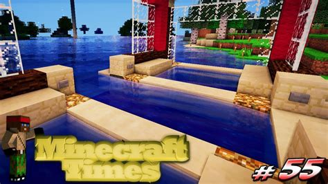 minecraft automatic boat dock minecraft times 55 automatic boat dock youtube