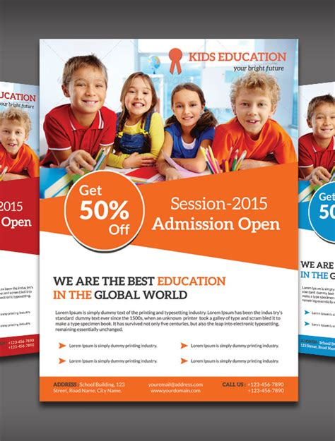 school flyers templates free 18 best academic flyer templates designs free