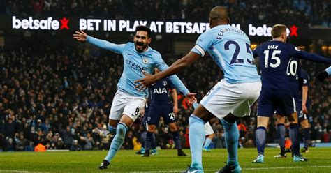 Tshirtt Shirtkaosoblongsablon Bola Klub Manchester City manchester city berhasil gilas tottenham dengan skor 4 1 bola motion
