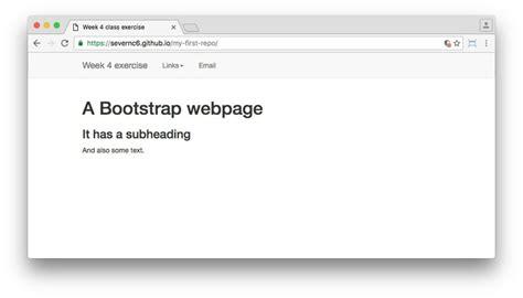 bootstrap tutorial github using github