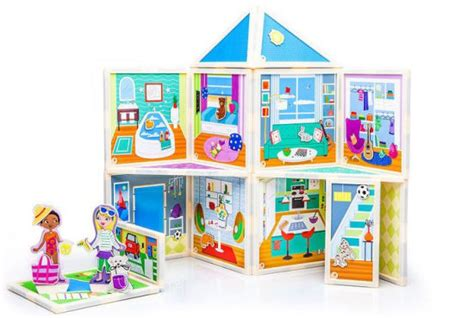 magnetic doll house malia s house magnetic dollhouse you design yourself 863992000041 item barnes