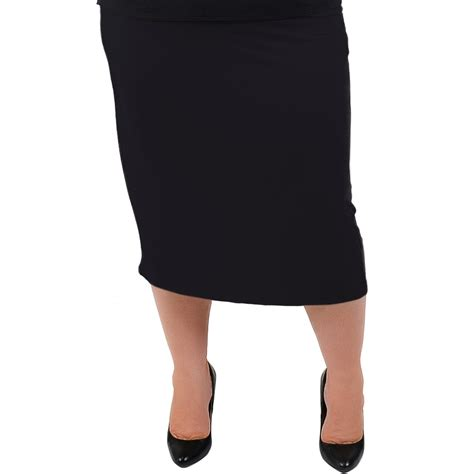 comfortable skirts plus size comfortable soft stretch midi skirt