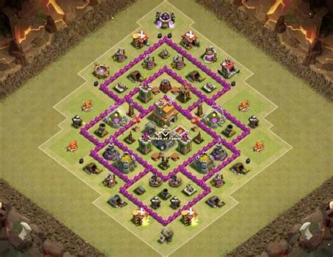 layout coc th7 anti naga 30 undefeated th7 war farming trophy hybrid layouts
