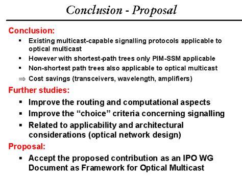design proposal conclusion conclusion proposal