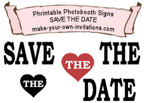 Make Your Own Save The Date Cards Templates by Save The Date Photo Booth Cards Diy Invitations