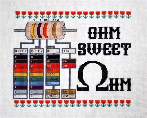 resistor color pattern resistor cross stitch neatorama