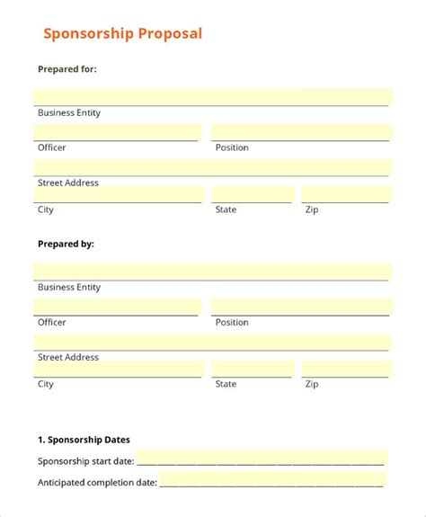 sponsor forms templates free sponsorship letter template 8 free word pdf documents