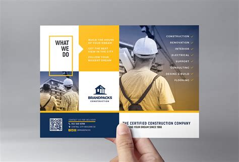 Construction Company Flyer Template In Psd Ai Vector Brandpacks Templates For Construction Companies