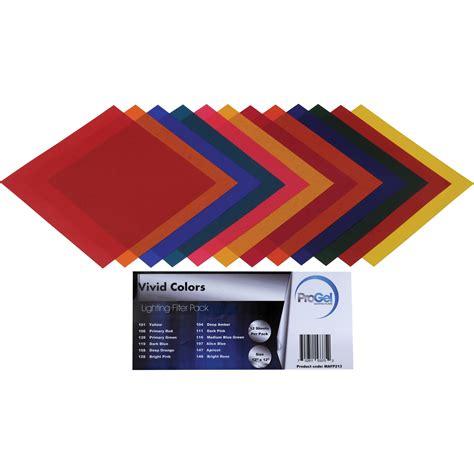 colored gels for lights pro gel vivid colors filter pack 12 x 12 quot pg12 213 b h