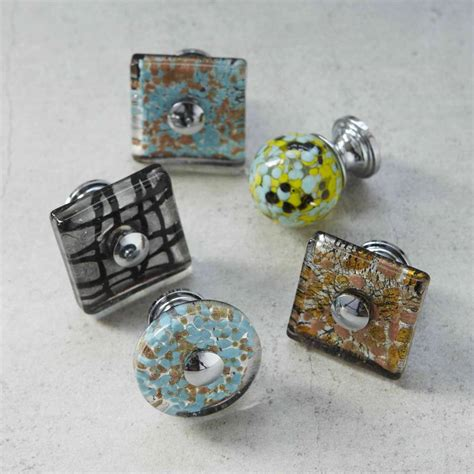 Glass Cupboard Door Knobs by Murano Glass Cupboard Door Knob By Pushka Home