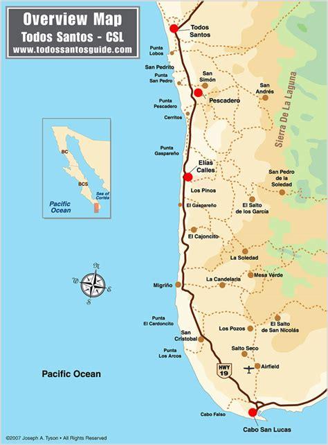 fodor s los cabos with todos santos la paz valle de guadalupe color travel guide books todos santos map overview from la poza to los cerritos