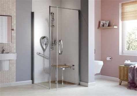 Shower Keeps by Stylish Accessible Floor Showers Design Fit More Ability