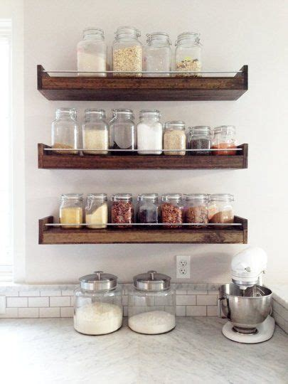 industrial floating shelf or spice rack from this wood