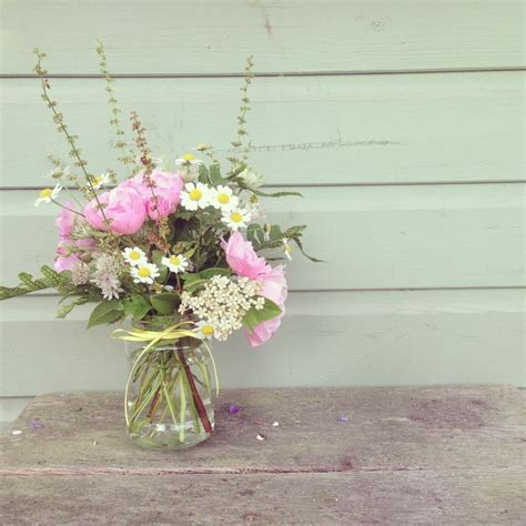 jam jar flower arrangement for the home pinterest