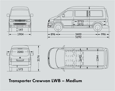 volkswagen caravelle dimensions new volkswagen transporter lwb crewvan light commercial