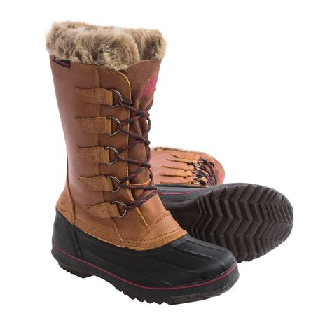 womens insulated boots kodiak skyla leather pac boots for 8844g save 76