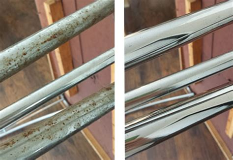 how to clean rust chrome table legs retro dinette set removing rust from chrome hearts