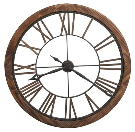 contemporary oversized wood frame metal numeral wall clock