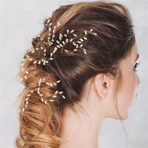 Vintage Leaf Wedding Hair Accessories by Aliexpress Buy 3 Pcs Gold Leaf Hair Pins Pearl