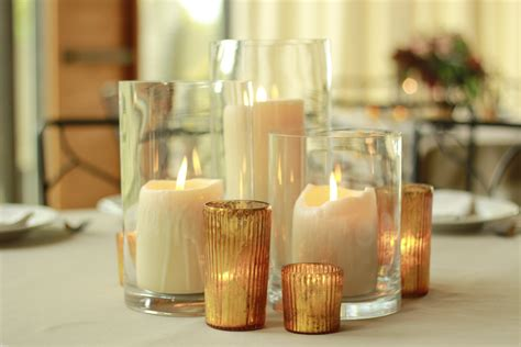 Candle Vase Wedding Centerpieces by Centerpiece Inspiration Cluster Of Pillar Candles In