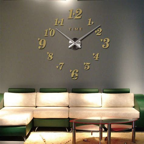 large diy 3d design decoration modern wall clock home