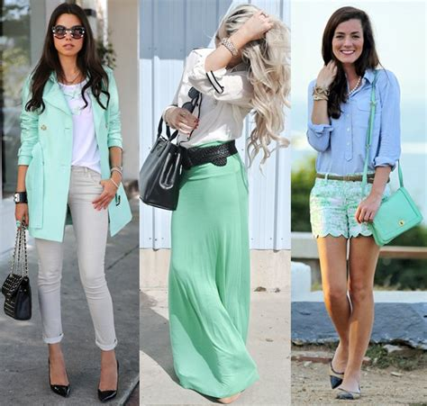 what goes with green colors that go with mint green the best matches