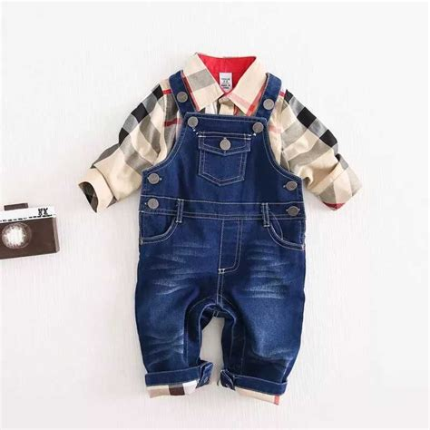 design clothes buy buy newly design baby boys clothes sets plaid t shirt top