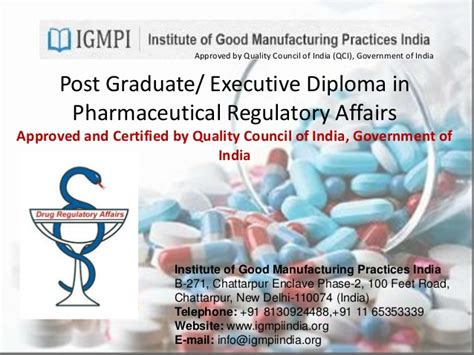 Post Graduate Diploma Vs Mba by Pharma Regulatory Affairs