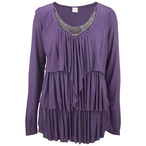 Longslevee Tunic embellished waterfall sleeve tunic