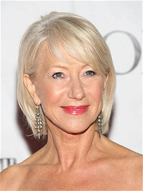 thin hair fat neck helen mirren a bob that ends right below your chin will