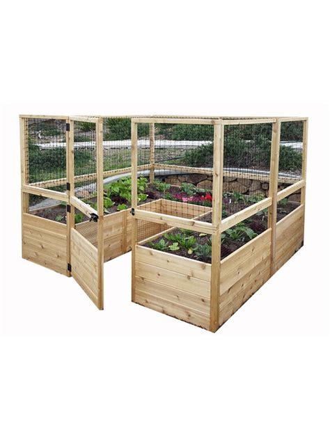 raised garden bed     deer fence kit