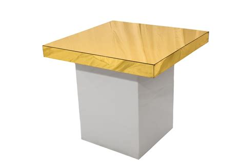 Small White Table L by Small White Table Gold Top