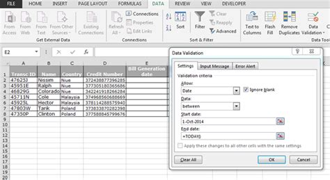 pattern annotation validation exle how to validate the entries in microsoft excel microsoft