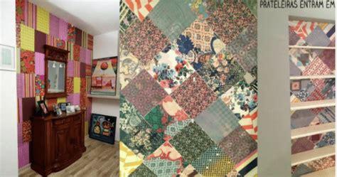 decorar parede papel de presente como decorar a parede patchwork de papel de presente