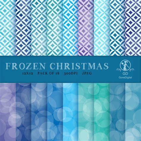 printable frozen scrapbook paper frozen christmas 12x12 digital paper pack printable