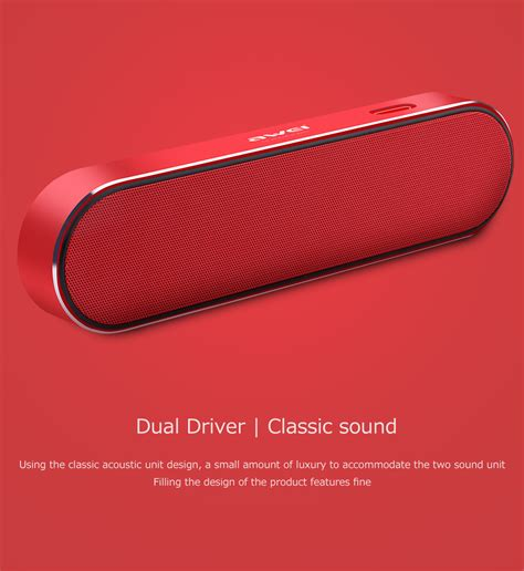 Awei Portable Bluetooth Speaker Y220 Awei Y220 Portable Dual Driver Wireless Bluetooth Speaker Gearvita