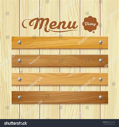 vector board layout menu wood board design background vector stock vector