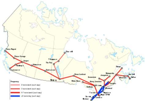 via rail map canada via rail canada map