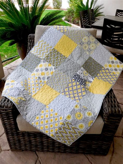yellow quilts and comforters yellow and grey baby quilt baby bedding crib by