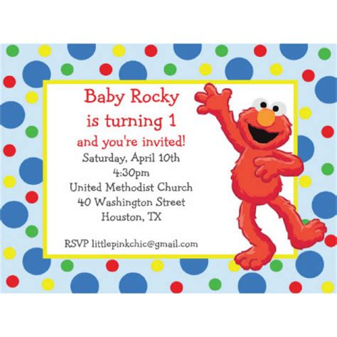 elmo birthday card template birthday invites 10 best design elmo birthday invitations