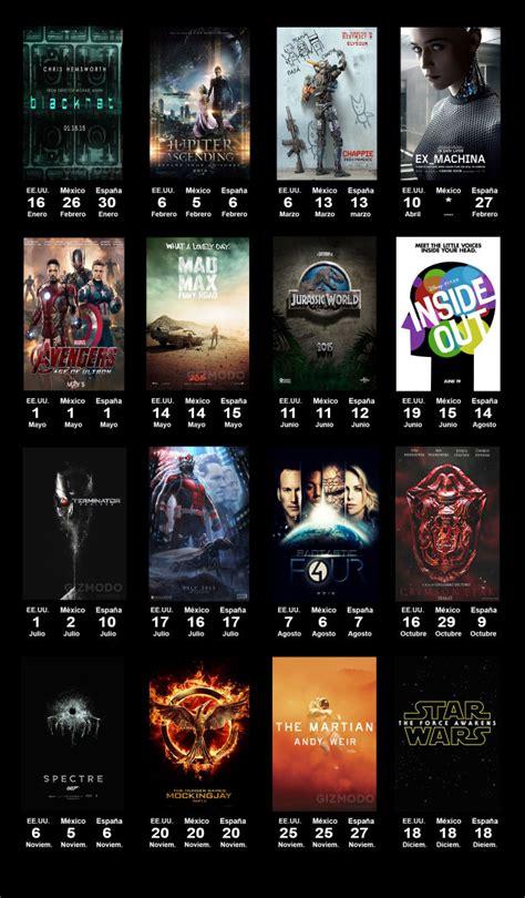 Pelicula Calendario 2012 Calendario De Estrenos De Cine Destacados En 2015