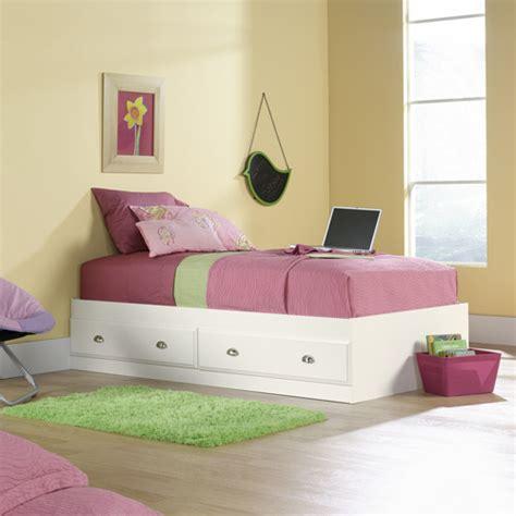 sauder twin bed sauder shoal creek twin mate s bed soft white walmart com