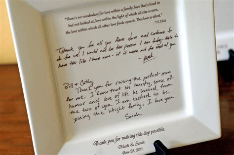 Wedding Gift Letter by Personal Letter To Parents On A Platter Wedding Gift From