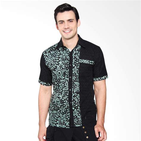 Kemeja Hem Batik Pria Cowo Baru Katun Motif Sinaran 2 Pekalongan jual jogja batik kombinasi genta hijau hem kemeja batik pria harga kualitas terjamin