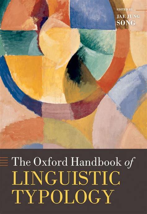 the oxford handbook of the oxford handbook of linguistic typology oxford university press