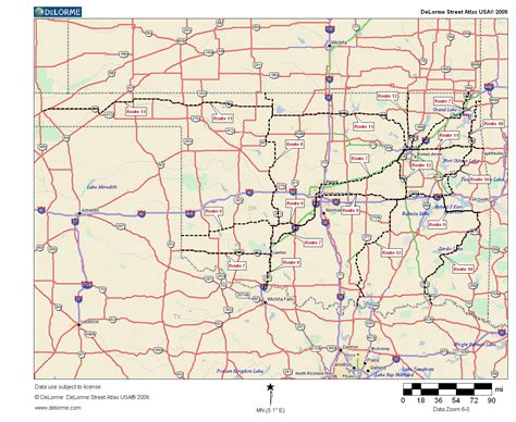 roadmap of oklahoma oklahoma highways the secondary crossings
