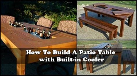 patio table with built in cooler how to build a patio table with built in cooler
